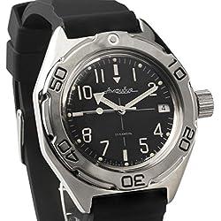 Vostok #670921 Classic Amphibian Mechanical Automatic Russian Wrist Watch 2416B Movement Resin Strap