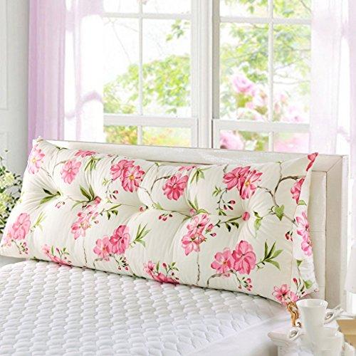WEBO HOME- Qiushui Irakien personnes Double Bed Soft Valise de taille Triangle Coussins Lit oreiller sur le grand canapé arrière avec un noyau -Coussin/oreiller (taille : 20 * 50 * 120cm)