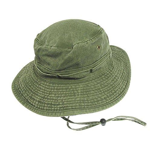 Village Hats Chapeau Bob Boonie Pliable en Coton Olive