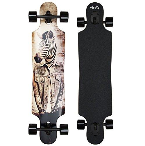 My Area Longboard Zebbie weiß schwarz-Ausrüstung Skateboard