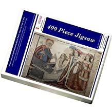 400 Piece Puzzle of Jesus resurrected forgiving Saint Peter. Central nave of the (14314464)