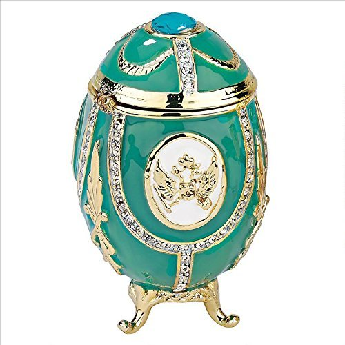Design Toscano Russian Imperial Eagle Faberge-Style Enameled Egg, Full Color by Design Toscano Faberge Imperial