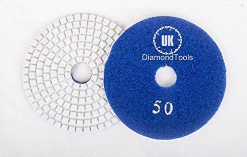 """Húmedo o Seco 7""""(180mm, grano 50, 20unidades) almohadillas para pulir de diamante granito mármol"""