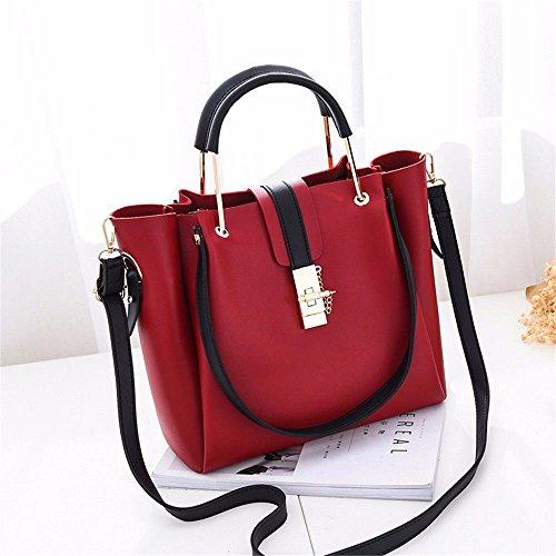 Battier 2019 New Handbag Lady Bag Borsa a Spalla Grande a Tracolla, Rossa