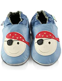 Snuggle Feet - Chaussons Bébé en Cuir Doux - Pirate