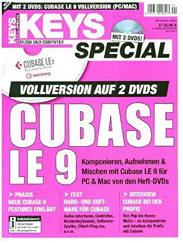 Cubase LE 9 Vollversion Musikproduktionssoftware von Steinberg im Keys Special 16 Im Notebook