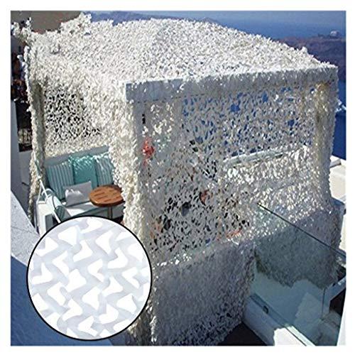 LIYIN-Schatten-Segel Weiß Sonnenschutznetz Waldtarnnetz Sonnenschutzstoffe mit freiem Seil Sonnenschutz Durchlässig Gartennetz Pflanzendecke Garden Privacy & Protect Screen