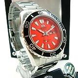 Orient Herren-Armbanduhr Analog Automatik Leder orange CEM75001MV