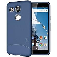 Nexus 5X (2015) Funda, TUDIA ultra delgado Mate Completa ARCH TPU caso de parachoques de protección Funda Carcasas para Google Nexus 5X (2015) (Azul)