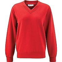 Blue Max Select-Maglione con collo a V a costine per applicare con polsino Sweatshirts