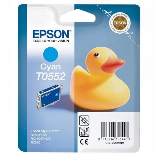 Epson T0552 Cartouche d'encre d'origine Cyan pour R240 245 RX420 425 520