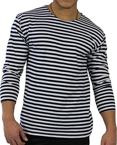 normani Russisches Marine T-Shirt Langarm Longsleeve Winter Größe L