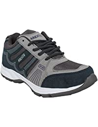 Arexon Men's Synthetic Grey Colored Sport Shoe( Men's Running Shoe, Breathable Sports Shoe, High Grip Sports Shoe... - B074Q26GFC