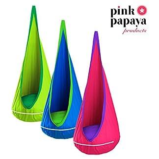 Pink Papaya Hamaca Doodle Hamaca para niños, Asiento con Cojines en Verde