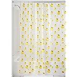InterDesign - Ducks - Cortina para ducha, 180 x 200 cm, Amarillo/Naranja