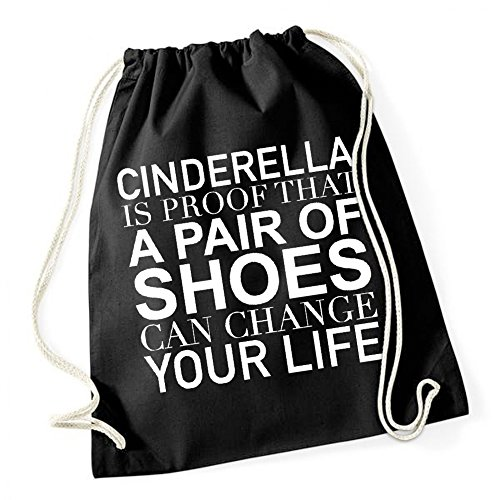 A Pair Of Shoes Gymsack Black Certified Freak (Cinderella Tasche)