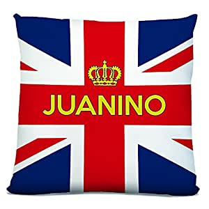 Juanino, Personalised Name Cushion, Union Jack (United