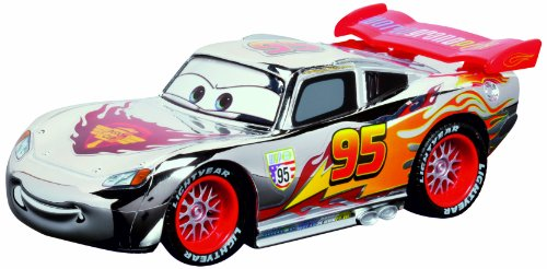 Dickie Spielzeug 203089580 - RC Silber Edition Lightning McQueen, 2-Kanal Funkfernsteuerung, Turbo Funktion, 17 cm, silber/rot