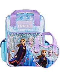 Disney® Official Frozen 2 Backpack for Girls with Elsa & Anna & Matching Girls Purse, Frozen Gift for Girls, School Travel Bags & Girls Purse | Into The Unknown Large Frozen Kids Rucksack