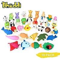 Bheddi Goma Juguete borradores de Animales 32Pcs Animal Mini Animal lápiz de Goma de Borrar los favores de Partido de los niños Fiesta de cumpleaños Rellenos de Bolsa Regalo de cumpleaños