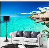 Rureng Custom Photo Wallpaper Southeast Asian Tropical Wallpaper Mural Living Room Sea View Restaurant Wallpaper-120X100Cm