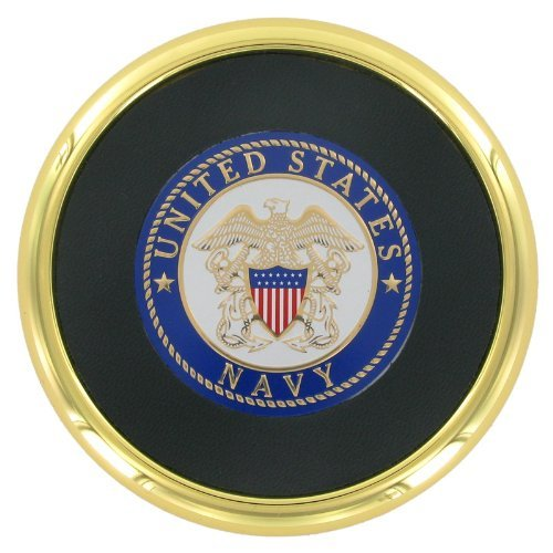Coaster with 2 Inch U.S. Navy Medallion Insert by Awards and Gifts R Us (Medallion-awards)