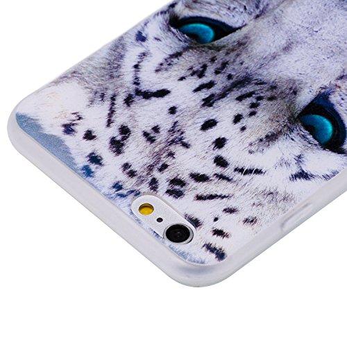 iPhone 6Plus Coque, iPhone 6s Plus Coque, Ultra mince antichoc souple en gel TPU Bumper souple en caoutchouc de silicone de protection Peau avec anti-rayures pour Apple iPhone 6Plus/6s Plus 14cm iP léopard