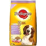 Pedigree Senior (7+ Years) Dry Dog Food, Chicken & Rice, 3kg Pack