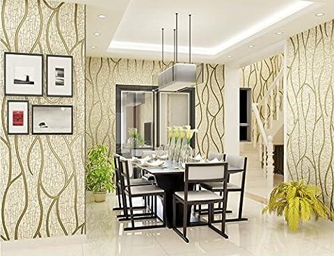 yancen einfach modern gewebt Wildleder 3D Stereo TV Hintergrund Wand Papier Esszimmer Schlafzimmer Film Tapete, Wallpaper only, 2023 (Effect Champagne)