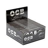 OCB - Espositore con 50 confezioni di cartine Premium lunghe per sigarette da 32 fogli, colore: Nero immagine
