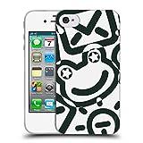 Head Case Designs Offizielle Turnowsky Gekritzel Schwarz Und Weiss Muster 2 Soft Gel Hülle für iPhone 4 / iPhone 4S