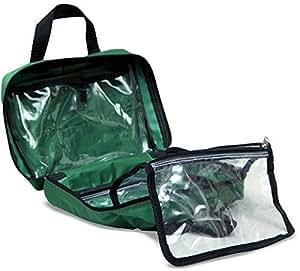 Trousse de secours à pochettes en toile vide verte - Unité(s)