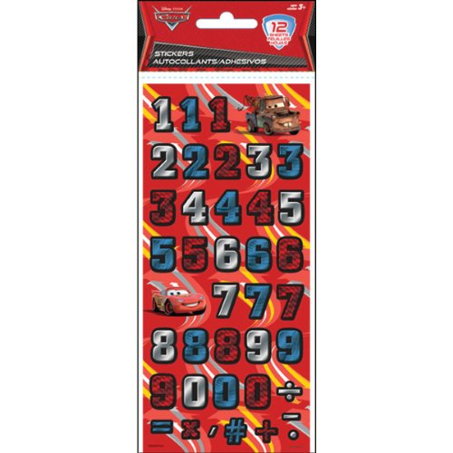 Sandylion Letters And Numbers Stickers-Disney Cars 1/2