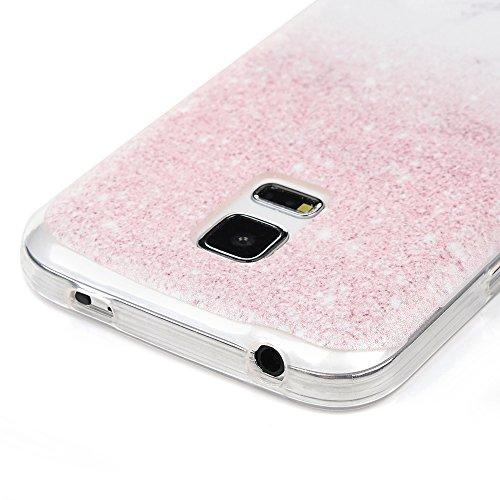 iPhone 7 Plus Hülle Case Kasos iPhone 7 Plus TPU Silikon Tasche Schutzhülle Handytasche IMD Gemalt Transparent Border Smart Cover Wal Design Marble Lines