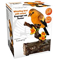 Lifetime Garden 56547 - Pájaro silbador con sensor de movimiento (cerámica, 10x6x13,5cm), multicolor