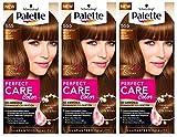 Schwarzkopf Palette Perfect Care Colour 555 Velvet Brown Haarfarbe 3 x Haarfärbemittel ** EXPIRY DATE IS NOVEMBER 2018 - Importvorrat - keine englische Anleitung **