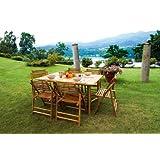 Tavolo da giardino in Bambù Moia Rtb 55 Tavolo per esterno Rettangolare Dimensioni L 150 cm - A 75 cm - P 90 cm