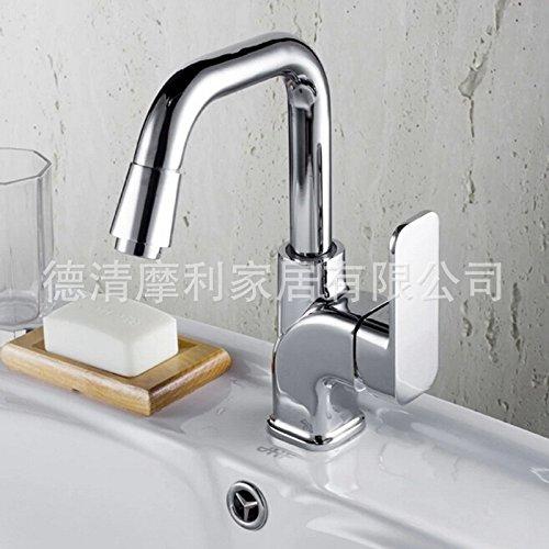 Preisvergleich Produktbild OLQMY-Hersteller Direkt alle Kupfer - chrom - wasserhahn drehen Hahn. Single - Becken wassertemperatur mischte , 40cm * 18.5cm * 6cm