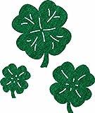 Petra 's Manualidades (News 105Juego de adornos Juego de hojas de trébol en 3distintos tamaños Fieltro, fliz, Verde, 18x 12x 3cm