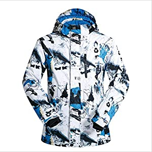 HXRYFC Fashion Men Women es Mountain High Waterproof Windproof Snowboard Colorful Printed Ski Jacket