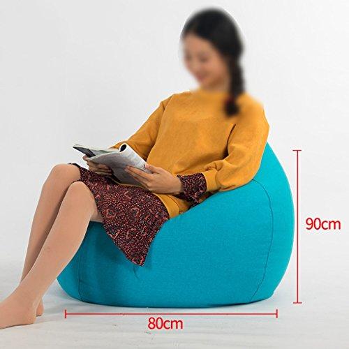 Bean Bag Lounger Canapé Unique Mode Chaise de Salon Salon Chambre Amovible Et Lavable Tissu 80 * 90 cm (Couleur : Bleu)