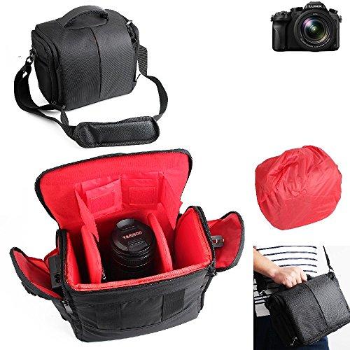 Für Panasonic Lumix DMC-FZ2000 Kameratasche Fototasche Umhängetasche Schultertasche Zubehör Tasche für Panasonic Lumix DMC-FZ2000 mit Zusatzfächern, Regenschutz und frei einteilbaren TrennwÃ