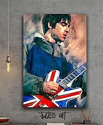 Noel Gallagher Music Oasis Abstract Art - Canvas Print - Wall Art - Framed Canvas Art