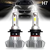 Picture Of H7 LED Headlight Bulbs Car All-in-One Conversion Kit Super Bright COB Chip Headlamp 30W 6000LM Replace for Halogen or HID Bulbs Lamp Colight S9