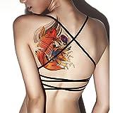 TAFLY Frauen Sexy Körper Kunst Extra große Dimension Fisch übertragen temporäre Tattoos 2 Blätter