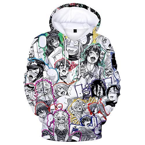 Einfachen Anime Kostüm - CPHGG Mode 3D Gedruckt Kapuzenpullover Unisex Farbdruck Kapuzenjacke Anime Cosplay Kostüm Einfach Beiläufig Leichte Männer Und Frauen Kapuzenpulli
