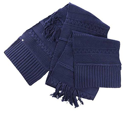 UGG Women's Cable Fringe Scarf Navy Scarf One Size for sale  Delivered anywhere in UK