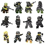Best Lego Figures - Mini Figures Set-12 Piece Army Minifigures SWAT Team Review