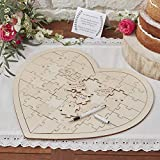 Ginger Ray bh-756 Holz Puzzle Hochzeit guestbook-58 Stück