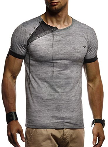 LEIF NELSON Herren Sportshirt T-Shirt Hoodie Sweatshirt Crew Neck Rundkragen Kurzarm Longsleeve Modern Basic Polo Shirt
